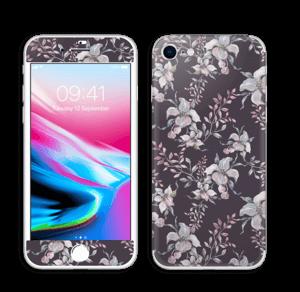 Purple & flowers  Skin IPhone 8
