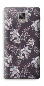 Lilla blomster Skin OnePlus 3