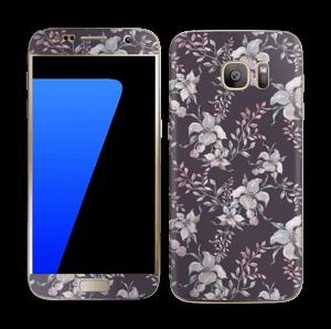 Purple & flowers  Skin Galaxy S7