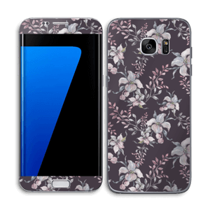 Purple & flowers  Skin Galaxy S7 Edge