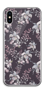 Purple & flowers  Skin IPhone X