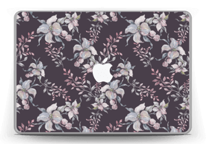 "Purple & flowers  Skin MacBook Pro 13"" -2015"