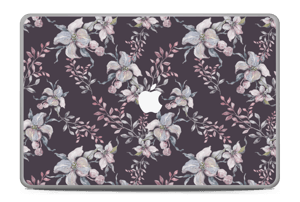 Purple & flowers  Skin MacBook Pro 17