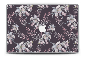 Purple & flowers  Skin MacBook Pro 15