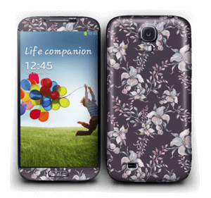 Purple & flowers  Skin Galaxy S4