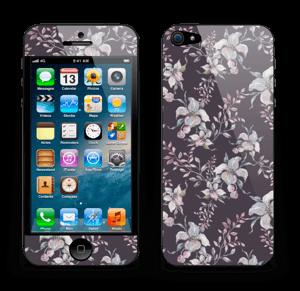 Purple & flowers  Skin IPhone 5