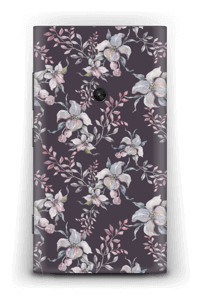 Purple & flowers  Skin Nokia Lumia 920
