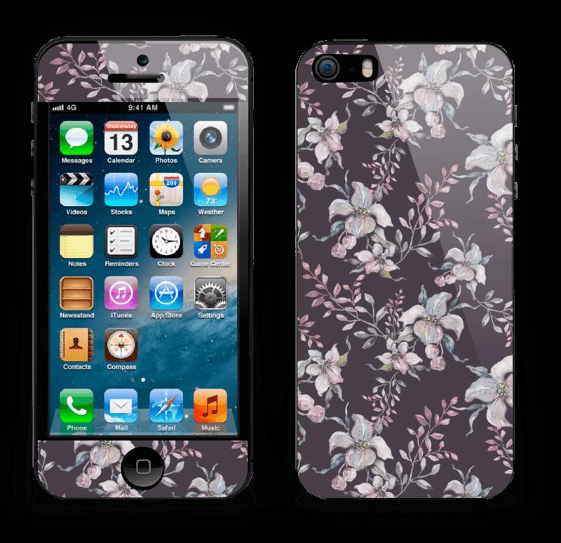 Purple & flowers  Skin IPhone 5s