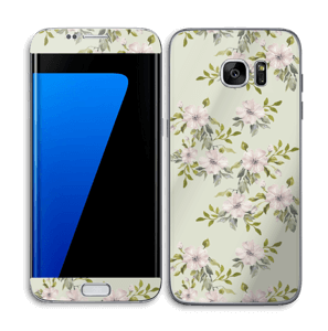 Flowers in light pink   Skin Galaxy S7 Edge
