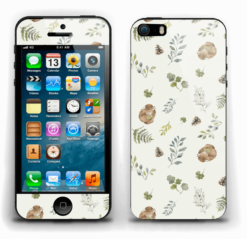 Pattern inspired by woodland   Skin IPhone 5s
