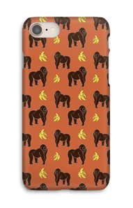 Monkey + Banana oranssi kuoret IPhone 8
