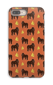 Monkey + Banana oranssi kuoret IPhone 8 Plus tough