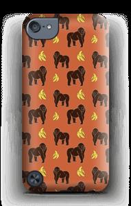 Monkey plus banana with orange background