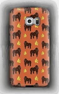 Monkey + Banana oranssi kuoret Galaxy S6 Edge
