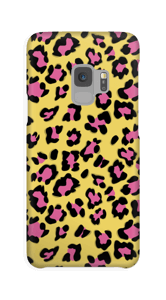 A phone case with leopard print