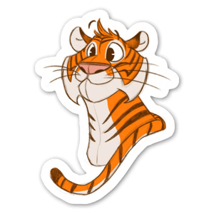 tiny tiger sticker