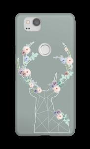 Cerf & Fleurs  Coque  Pixel 2