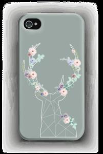 Cerf & Fleurs  Coque  IPhone 4/4s
