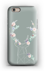 Lovely flowery reindeer  case IPhone 6 tough