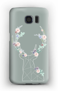 Lovely flowery reindeer  case Galaxy S6