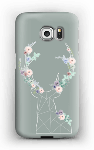Lovely flowery reindeer  case Galaxy S6 Edge