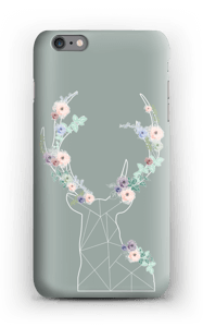 Lovely flowery reindeer  case IPhone 6s Plus