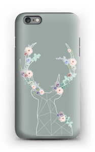 Lovely flowery reindeer  case IPhone 6 Plus tough