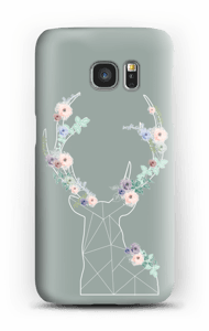 Lovely flowery reindeer  case Galaxy S7