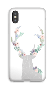 Flower reindeer  case IPhone X