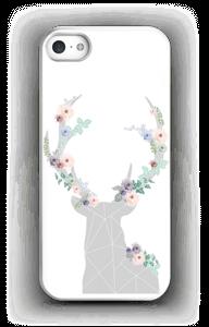 Cerf & Fleurs Blanc Coque  IPhone 5/5S