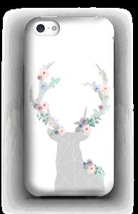 Cerf & Fleurs Blanc Coque  IPhone 5c