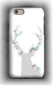 Cerf & Fleurs Blanc Coque  IPhone 6 tough