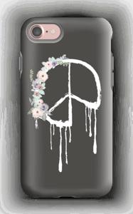 Peace med blomsterkrans skal IPhone 7 tough