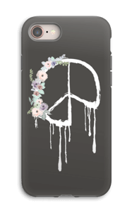 Flowery peace case IPhone 8 tough
