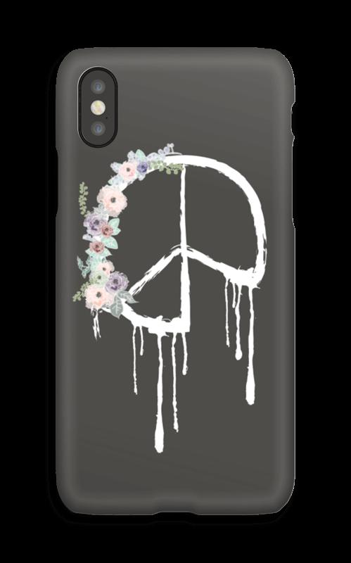Peace med blomsterkrans deksel IPhone X