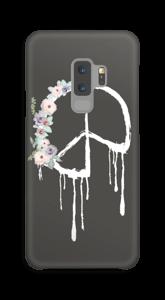 Peace med blomsterkrans skal Galaxy S9 Plus