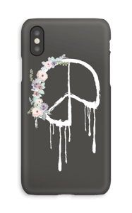 Peace med blomsterkrans deksel IPhone XS