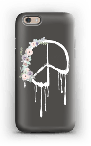 Flowery peace case IPhone 6s tough