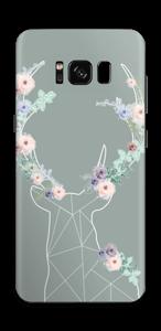 Rentier auf Grün Skin Galaxy S8