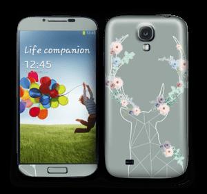 Grey Blooming Deer  Skin Galaxy S4