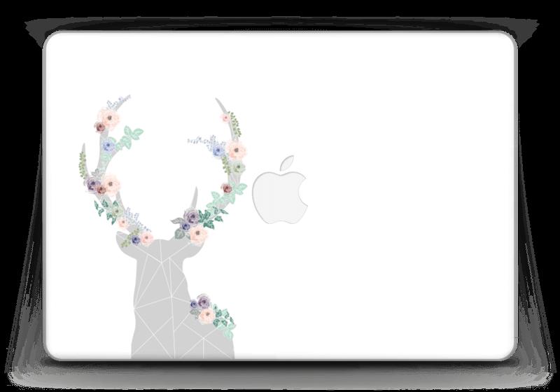 "Cerf & Fleurs Blanc Skin MacBook Pro Retina 13"" 2015"