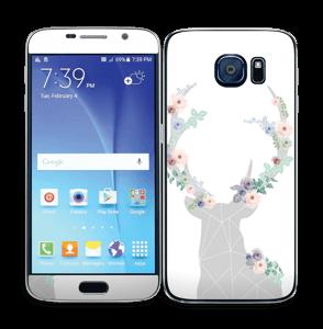 Reno con Flores Vinilo  Galaxy S6