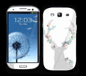 Hjort i blomster Skin Galaxy S3