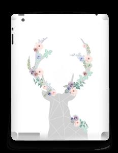 Cerf & Fleurs Blanc Skin IPad 4/3/2