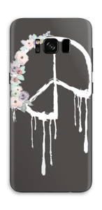 Peace & Flowers Skin Galaxy S8