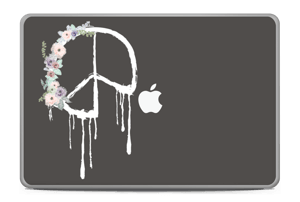 "Peace Flowers  Skin MacBook Pro 17"" -2015"