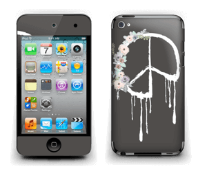 Peace Flowers Skin IPod Touch 4th Gen