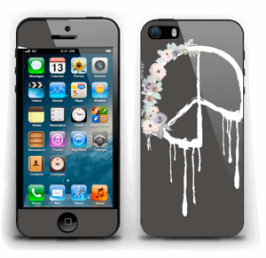 Peace Flowers Skin IPhone 5s