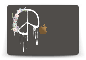 Peace Flowers Skin MacBook 12""