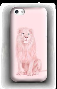 A pink lion case IPhone 5c